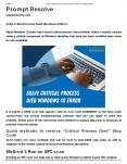 Solve Critical Process Died Windows 10 Error PowerPoint PPT Presentation