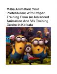 An Advanced Animation And Vfx Training Centre In Kolkata PowerPoint PPT Presentation