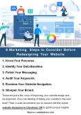 6 Marketing Steps to Consider Before Redesigning Your Website PowerPoint PPT Presentation