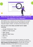 What Are the Top SEO Platforms That Can Help You Optimize Your Website? PowerPoint PPT Presentation