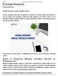 Disable Windows Module Installer Worker PowerPoint PPT Presentation