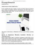 Disable Windows Module Installer Worker PowerPoint PPT Presentation