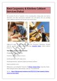Best Carpentry & Kitchen Cabinet Services Dubai PowerPoint PPT Presentation