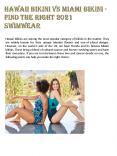 Hawaii Bikini vs Miami Bikini - Find the Right 2021 Swimwear PowerPoint PPT Presentation
