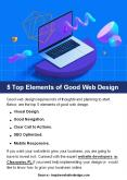 5 Top Elements of Good Web Design PowerPoint PPT Presentation