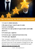 7 Tips for Protecting Your Brand's Online Reputation PowerPoint PPT Presentation