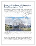 Integrated Intelligent LED Square One Solar Street Light in Dubai PowerPoint PPT Presentation