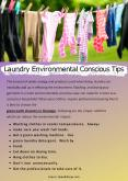 Laundry Environmental Conscious Tips PowerPoint PPT Presentation