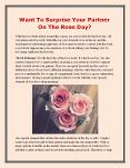 Want To Surprise Your Partner On The Rose Day? PowerPoint PPT Presentation