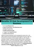 Benefits Of Web Development For Business PowerPoint PPT Presentation