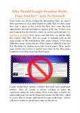 Why Should Google Penalize Multi-Page Articles - Jain Technosoft PowerPoint PPT Presentation