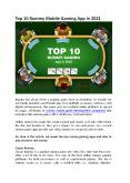 Top 10 Rummy Mobile Gaming App in 2021 PowerPoint PPT Presentation
