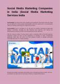 Social Media Marketing Companies in India |Social Media Marketing Services India (1) PowerPoint PPT Presentation