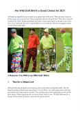 Are Wild Golf Shirts a Good Choice for 2021 PowerPoint PPT Presentation