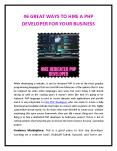 6 GREAT WAYS TO HIRE A PHP DEVELOPER FOR YOUR BUSINESS-converted PowerPoint PPT Presentation