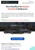 Hire Chauffeur for Airport Transfer in Melbourne PowerPoint PPT Presentation