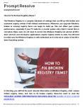 How to Fix Broken Registry Items? PowerPoint PPT Presentation