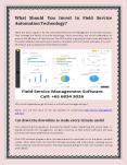 What Should You Invest In Field Service Management Technology PowerPoint PPT Presentation