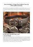 Shark skin Belts: 5 Things They Do Better Than Any Other Leather Accessory PowerPoint PPT Presentation