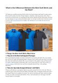 What is the Difference Between the Best Golf Shirts and the Rest? PowerPoint PPT Presentation