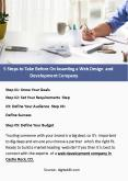 5 Steps to Take Before On boarding a Web Design and Development Company PowerPoint PPT Presentation