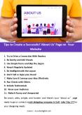 Tips to Create a Successful 'About Us' Page on Your Website PowerPoint PPT Presentation