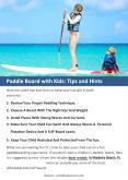 Paddle Board with Kids: Tips and Hints PowerPoint PPT Presentation