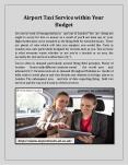 Airport Taxi Service within Your Budget PowerPoint PPT Presentation