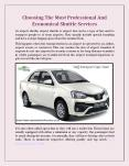 Choosing The Most Professional And Economical Shuttle Services PowerPoint PPT Presentation