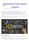 6 Reasons Why Fresh Content is Important for Your Business PowerPoint PPT Presentation