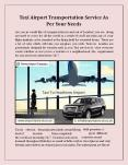 Taxi Airport Transportation Service As Per Your Needs PowerPoint PPT Presentation