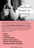 Benefits of Prayer in Recovery PowerPoint PPT Presentation