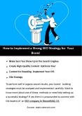 How To Implement a Strong SEO Strategy PowerPoint PPT Presentation