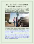 Find The Most Convenient And Accessible Executive Cars PowerPoint PPT Presentation