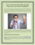 Some Ways to Choose the Best Public Speaking Courses for Career Boost in Singapore PowerPoint PPT Presentation