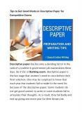Tips to Get Good Marks in Descriptive Paper for Competitive Exams PowerPoint PPT Presentation