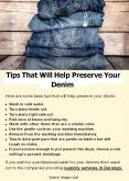 Tips That Will Help Preserve Your Denim PowerPoint PPT Presentation