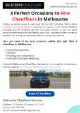 4 Perfect Occasions to Hire Chauffeurs in Melbourne PowerPoint PPT Presentation