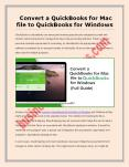 Convert QuickBooks File from Mac to Windows - How to Do? PowerPoint PPT Presentation