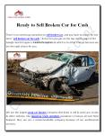 Sell Broken Car for Cash With Instant Payout PowerPoint PPT Presentation