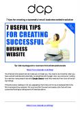 7 tips for creating a successful small business website solution