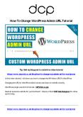 How To Change WP Admin URL For WordPress - Hide WP Admin URL PowerPoint PPT Presentation