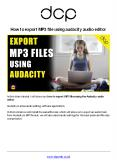 How to export mp3 file using audacity audio editor PowerPoint PPT Presentation
