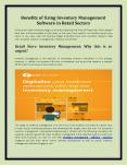 Need of Inventory Management Software in Retail Sectors PowerPoint PPT Presentation