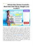 Whole Keto Xtreme Australia | Increase 70% Metabolism And Energy Levels PowerPoint PPT Presentation