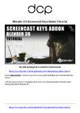Blender Screencast Keys Addon Tutorial PowerPoint PPT Presentation