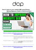 How to improve your website SEO using Schema Markup - Beginners Guide PowerPoint PPT Presentation