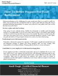 How To Better Prepare For Your Retirement PowerPoint PPT Presentation