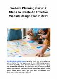 Website Planning Guide: 7 Steps To Create An Effective Website Design Plan In 2021 PowerPoint PPT Presentation