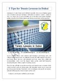 5 Tips for Tennis Lessons in Dubai PowerPoint PPT Presentation